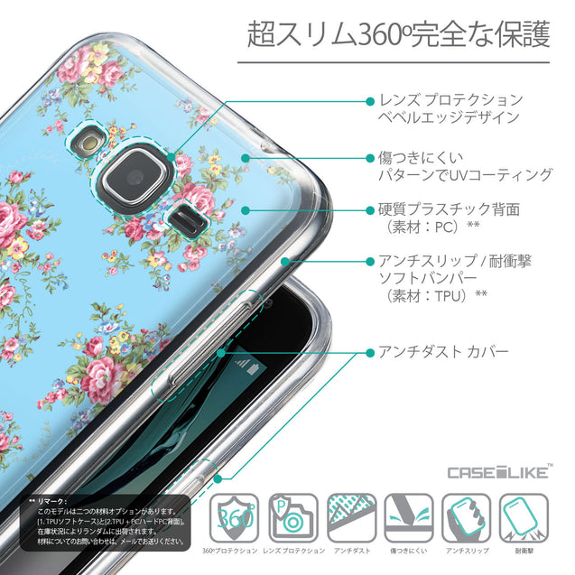 Details in Japanese - CASEiLIKE Samsung Galaxy J3 (2016) back cover Floral Rose Classic 2263