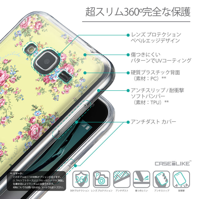 Details in Japanese - CASEiLIKE Samsung Galaxy J3 (2016) back cover Floral Rose Classic 2264