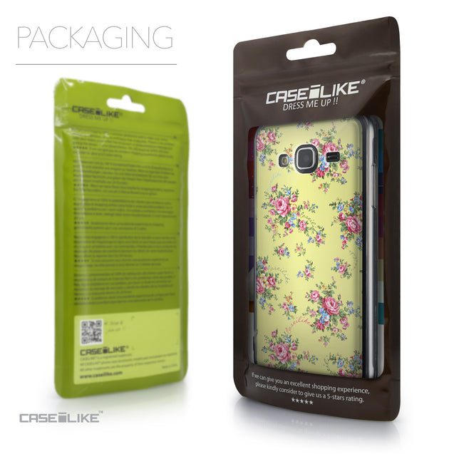 Packaging - CASEiLIKE Samsung Galaxy J3 (2016) back cover Floral Rose Classic 2264