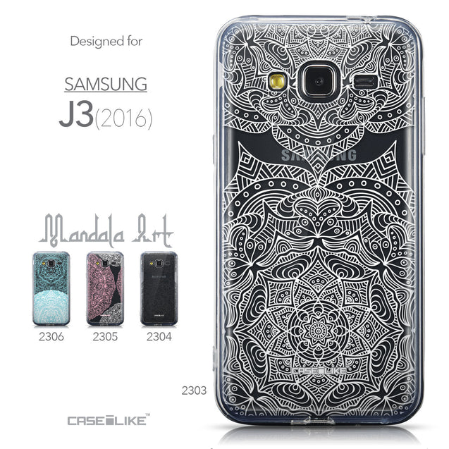 Collection - CASEiLIKE Samsung Galaxy J3 (2016) back cover Mandala Art 2303