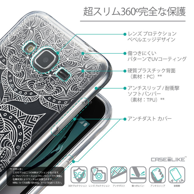 Details in Japanese - CASEiLIKE Samsung Galaxy J3 (2016) back cover Mandala Art 2303