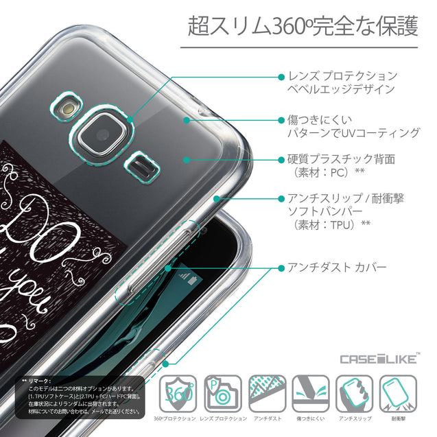 Details in Japanese - CASEiLIKE Samsung Galaxy J3 (2016) back cover Quote 2400