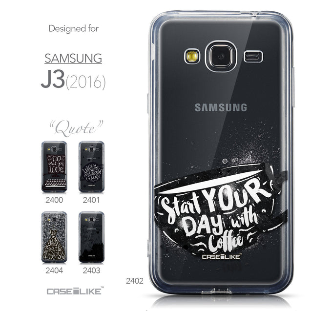 Collection - CASEiLIKE Samsung Galaxy J3 (2016) back cover Quote 2402
