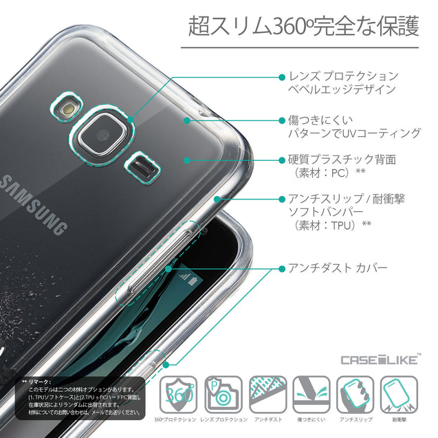 Details in Japanese - CASEiLIKE Samsung Galaxy J3 (2016) back cover Quote 2402