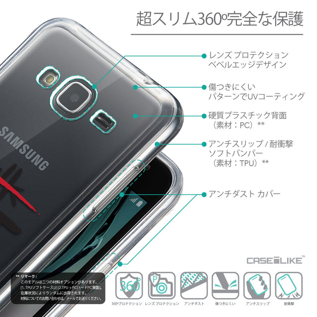 Details in Japanese - CASEiLIKE Samsung Galaxy J3 (2016) back cover Quote 2408