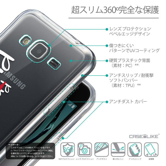 Details in Japanese - CASEiLIKE Samsung Galaxy J3 (2016) back cover Quote 2409