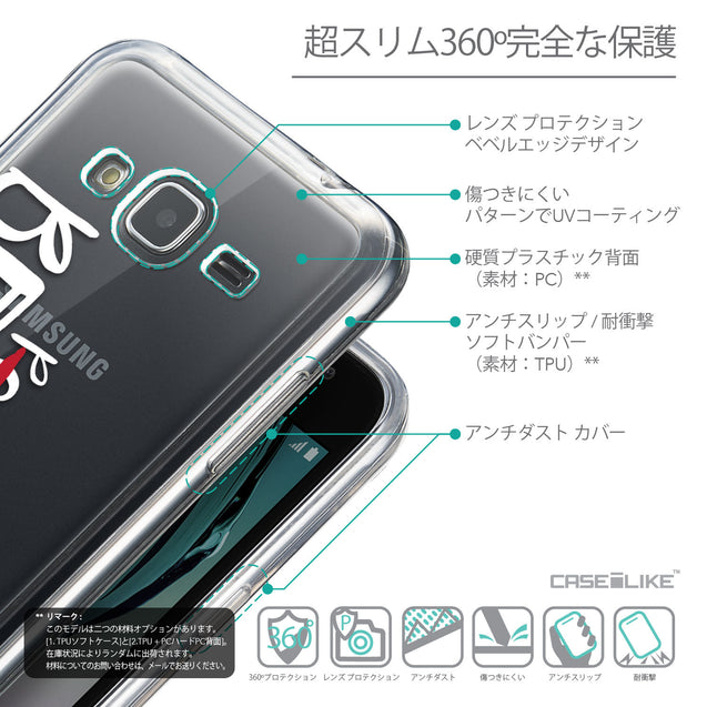 Details in Japanese - CASEiLIKE Samsung Galaxy J3 (2016) back cover Quote 2410