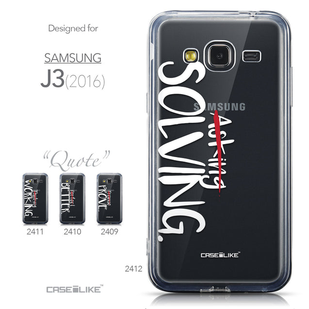 Collection - CASEiLIKE Samsung Galaxy J3 (2016) back cover Quote 2412