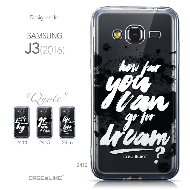 Collection - CASEiLIKE Samsung Galaxy J3 (2016) back cover Quote 2413