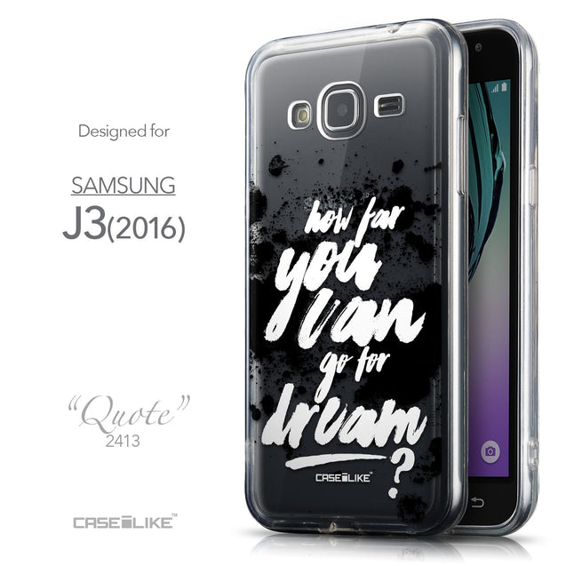 Front & Side View - CASEiLIKE Samsung Galaxy J3 (2016) back cover Quote 2413