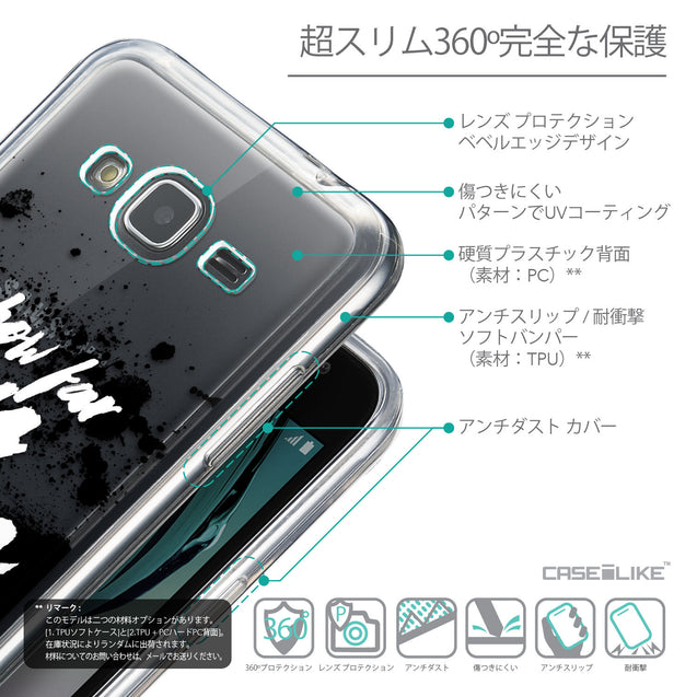 Details in Japanese - CASEiLIKE Samsung Galaxy J3 (2016) back cover Quote 2413
