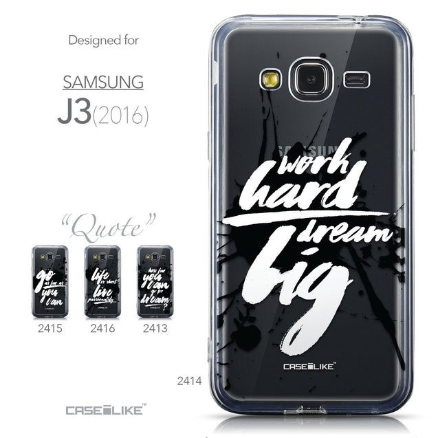 Collection - CASEiLIKE Samsung Galaxy J3 (2016) back cover Quote 2414