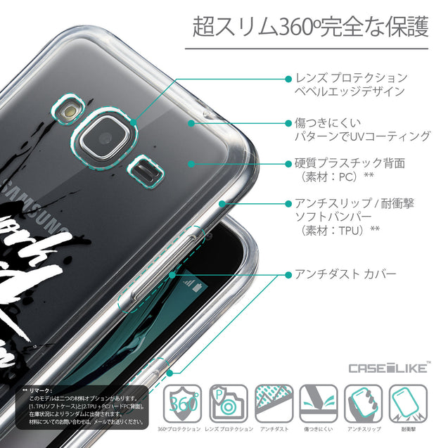 Details in Japanese - CASEiLIKE Samsung Galaxy J3 (2016) back cover Quote 2414