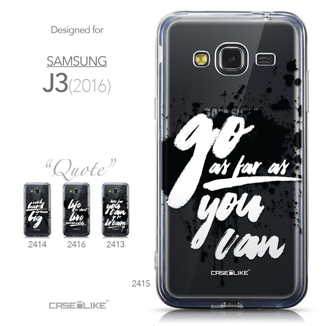 Collection - CASEiLIKE Samsung Galaxy J3 (2016) back cover Quote 2415