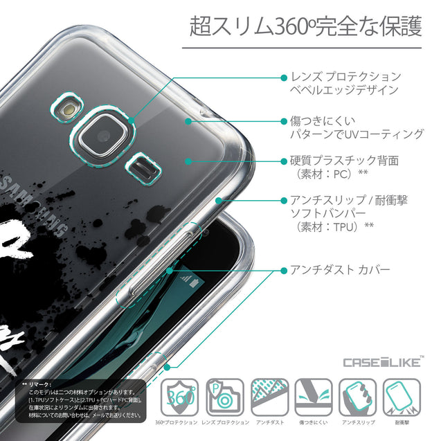 Details in Japanese - CASEiLIKE Samsung Galaxy J3 (2016) back cover Quote 2415