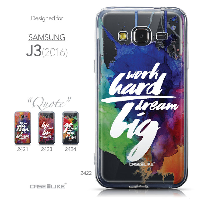 Collection - CASEiLIKE Samsung Galaxy J3 (2016) back cover Quote 2422
