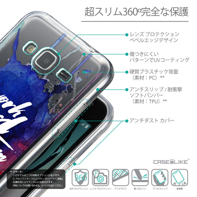 Details in Japanese - CASEiLIKE Samsung Galaxy J3 (2016) back cover Quote 2422