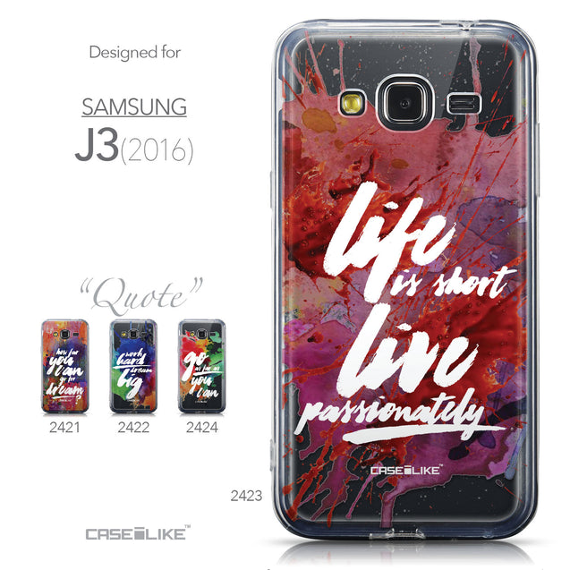 Collection - CASEiLIKE Samsung Galaxy J3 (2016) back cover Quote 2423