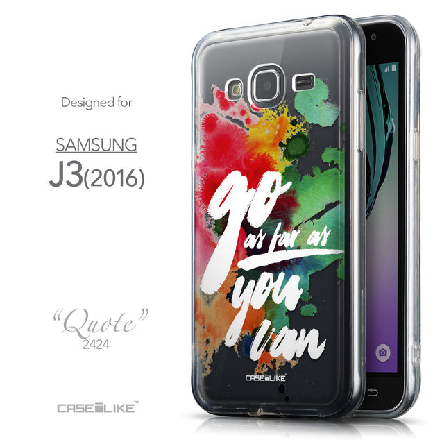 Front & Side View - CASEiLIKE Samsung Galaxy J3 (2016) back cover Quote 2424
