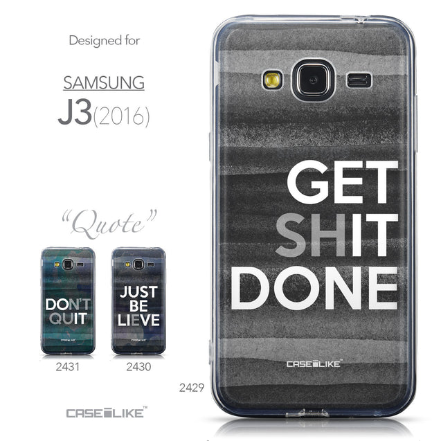 Collection - CASEiLIKE Samsung Galaxy J3 (2016) back cover Quote 2429