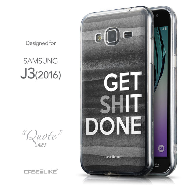 Front & Side View - CASEiLIKE Samsung Galaxy J3 (2016) back cover Quote 2429
