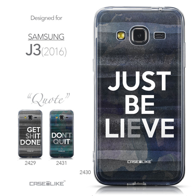 Collection - CASEiLIKE Samsung Galaxy J3 (2016) back cover Quote 2430