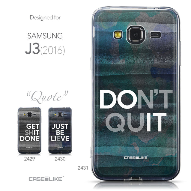 Collection - CASEiLIKE Samsung Galaxy J3 (2016) back cover Quote 2431