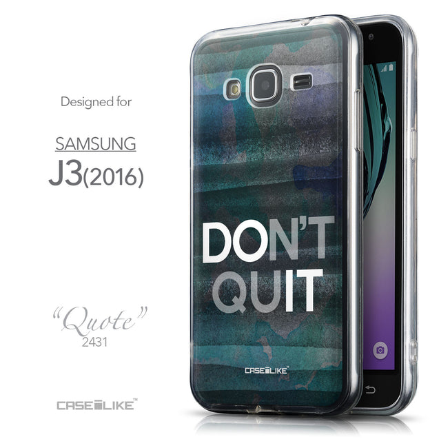 Front & Side View - CASEiLIKE Samsung Galaxy J3 (2016) back cover Quote 2431
