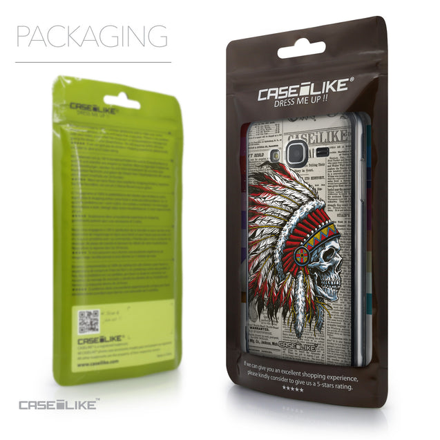 Packaging - CASEiLIKE Samsung Galaxy J3 (2016) back cover Art of Skull 2522