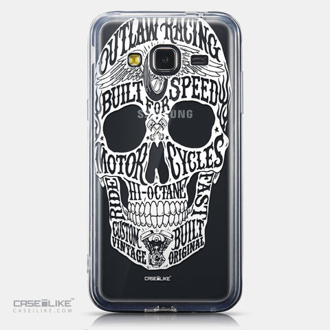 CASEiLIKE Samsung Galaxy J3 (2016) back cover Art of Skull 2530