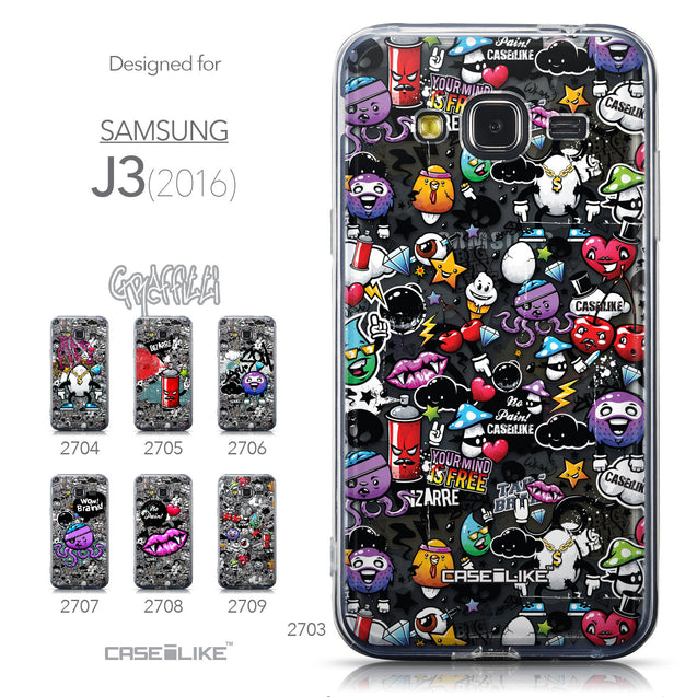 Collection - CASEiLIKE Samsung Galaxy J3 (2016) back cover Graffiti 2703