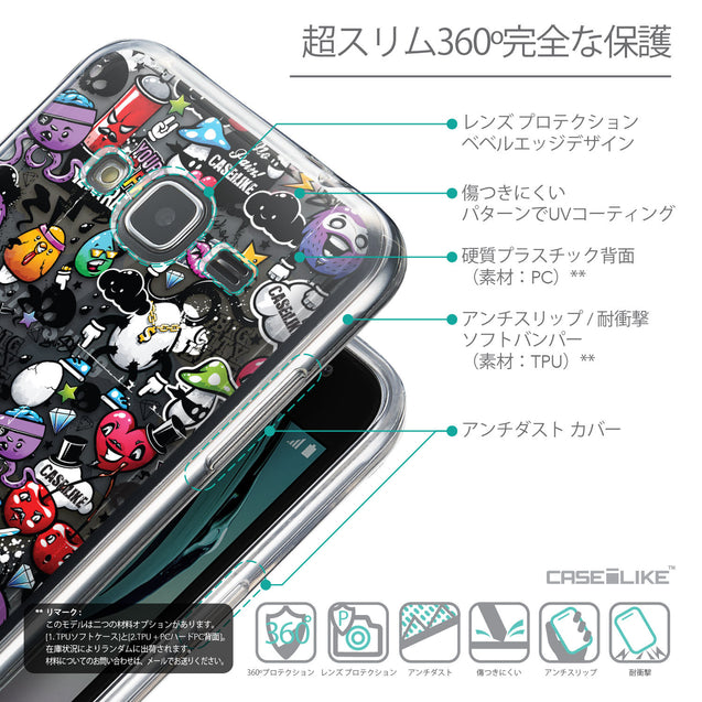 Details in Japanese - CASEiLIKE Samsung Galaxy J3 (2016) back cover Graffiti 2703