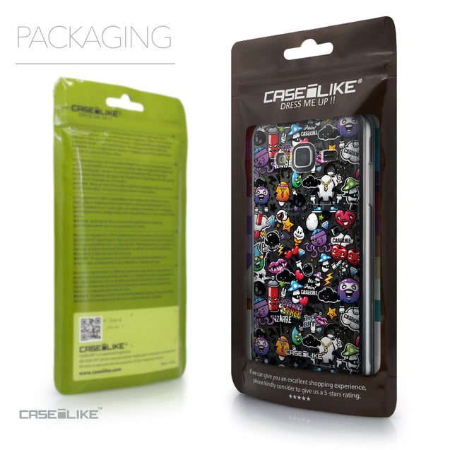 Packaging - CASEiLIKE Samsung Galaxy J3 (2016) back cover Graffiti 2703