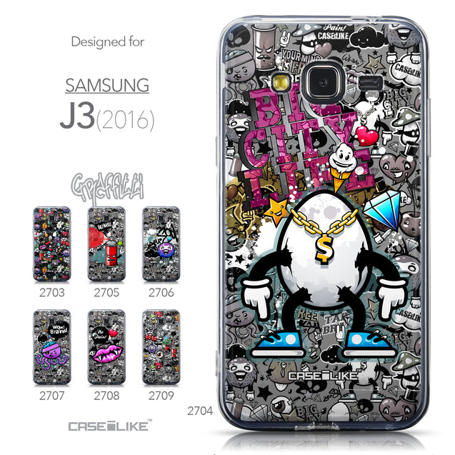 Collection - CASEiLIKE Samsung Galaxy J3 (2016) back cover Graffiti 2704
