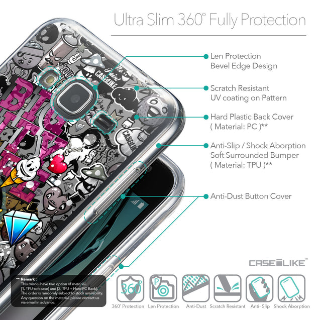 Details in English - CASEiLIKE Samsung Galaxy J3 (2016) back cover Graffiti 2704