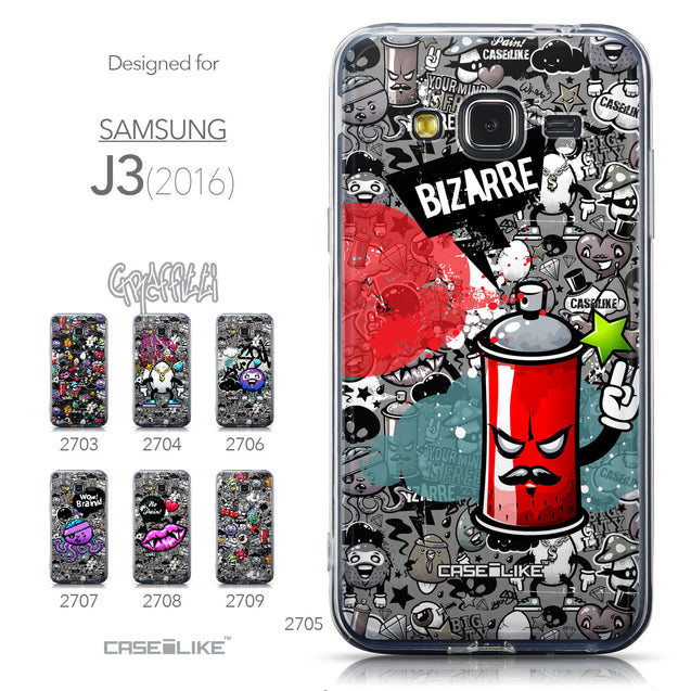 Collection - CASEiLIKE Samsung Galaxy J3 (2016) back cover Graffiti 2705