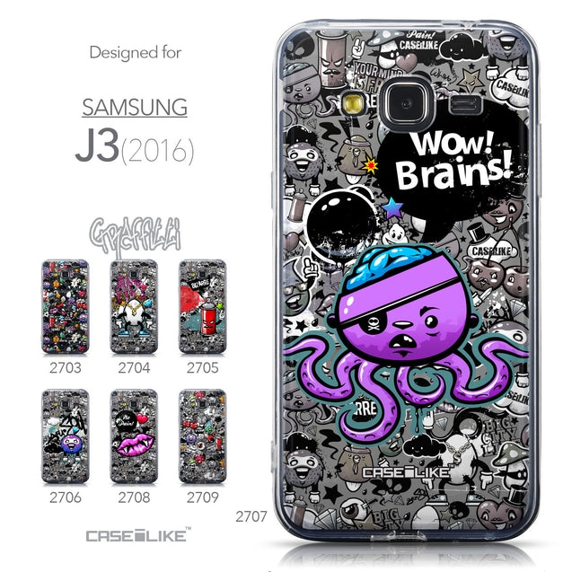Collection - CASEiLIKE Samsung Galaxy J3 (2016) back cover Graffiti 2707