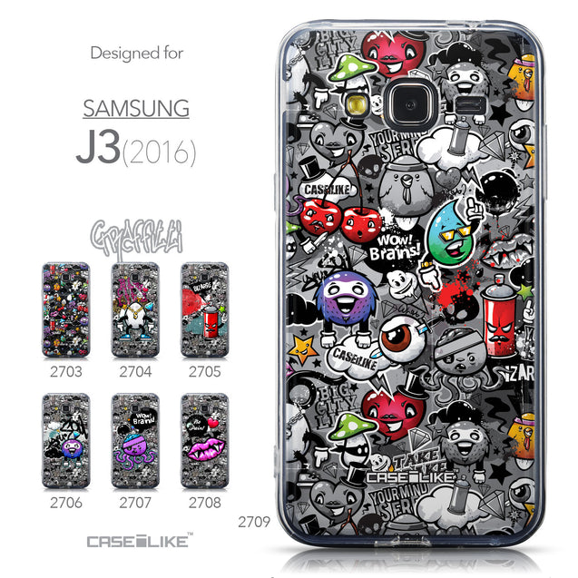 Collection - CASEiLIKE Samsung Galaxy J3 (2016) back cover Graffiti 2709