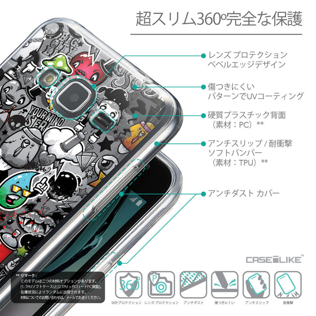 Details in Japanese - CASEiLIKE Samsung Galaxy J3 (2016) back cover Graffiti 2709