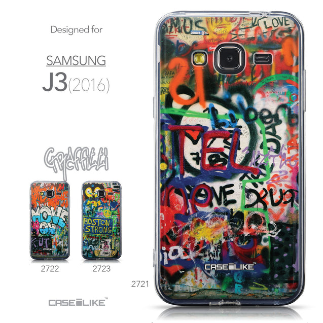 Collection - CASEiLIKE Samsung Galaxy J3 (2016) back cover Graffiti 2721
