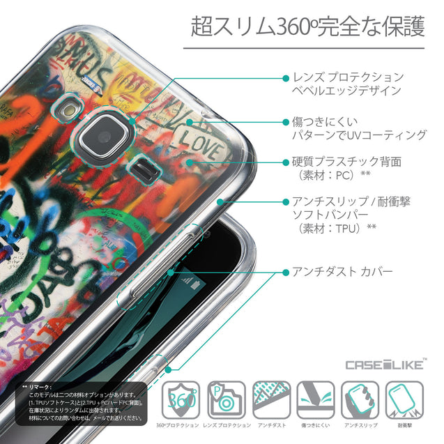 Details in Japanese - CASEiLIKE Samsung Galaxy J3 (2016) back cover Graffiti 2721