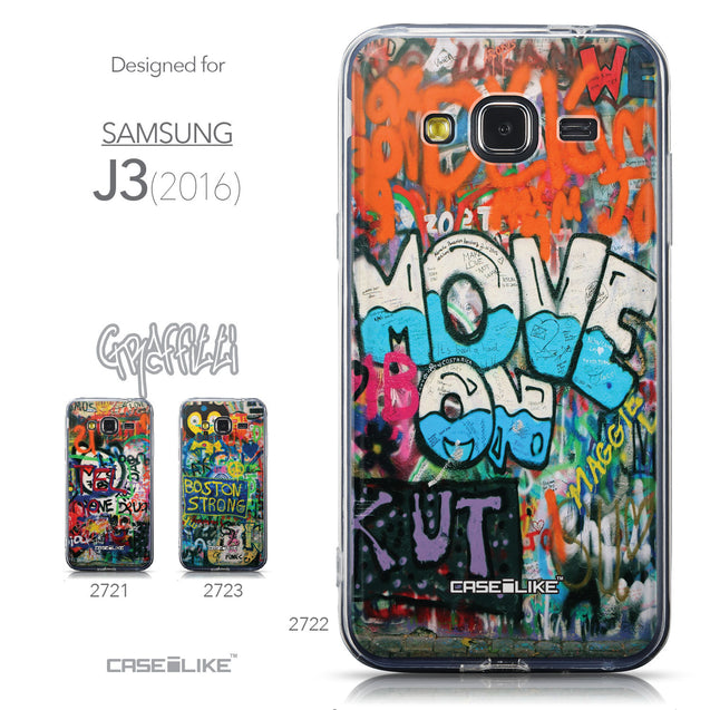 Collection - CASEiLIKE Samsung Galaxy J3 (2016) back cover Graffiti 2722