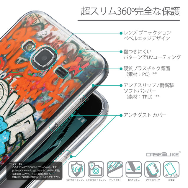 Details in Japanese - CASEiLIKE Samsung Galaxy J3 (2016) back cover Graffiti 2722