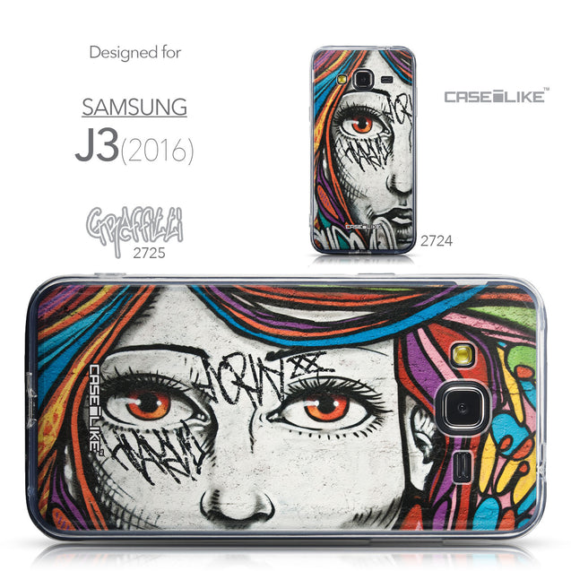 Collection - CASEiLIKE Samsung Galaxy J3 (2016) back cover Graffiti Girl 2725