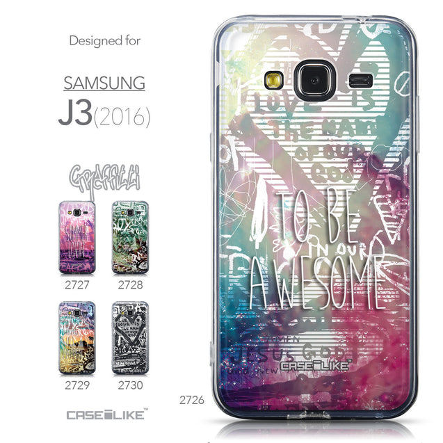 Collection - CASEiLIKE Samsung Galaxy J3 (2016) back cover Graffiti 2726