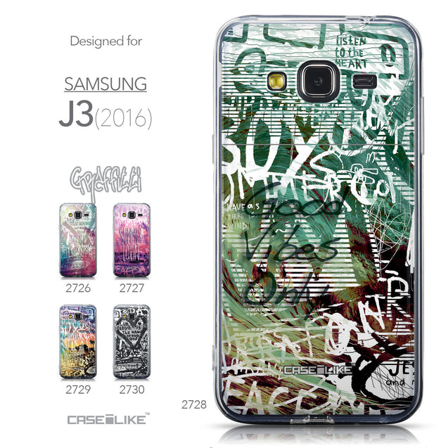 Collection - CASEiLIKE Samsung Galaxy J3 (2016) back cover Graffiti 2728