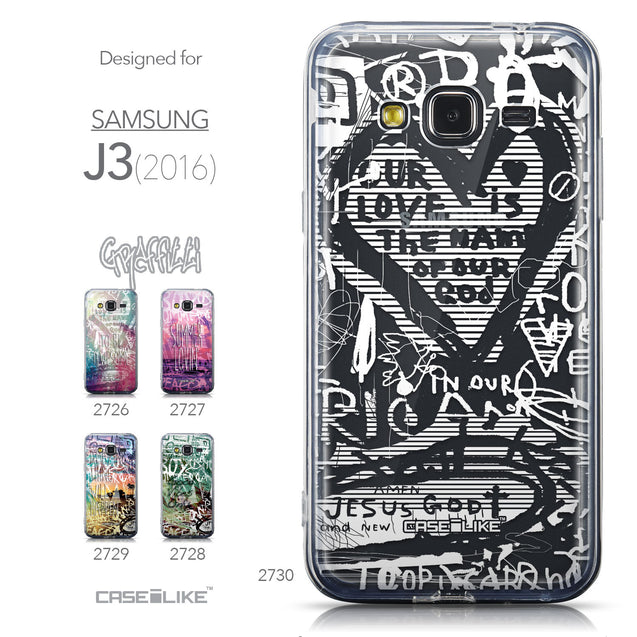 Collection - CASEiLIKE Samsung Galaxy J3 (2016) back cover Graffiti 2730