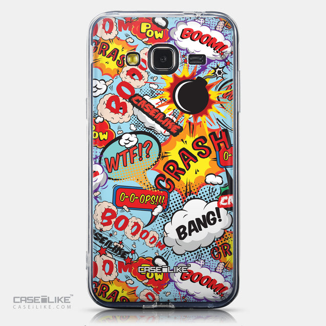 CASEiLIKE Samsung Galaxy J3 (2016) back cover Comic Captions Blue 2913