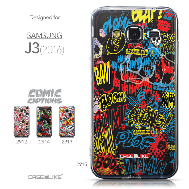 Collection - CASEiLIKE Samsung Galaxy J3 (2016) back cover Comic Captions Black 2915