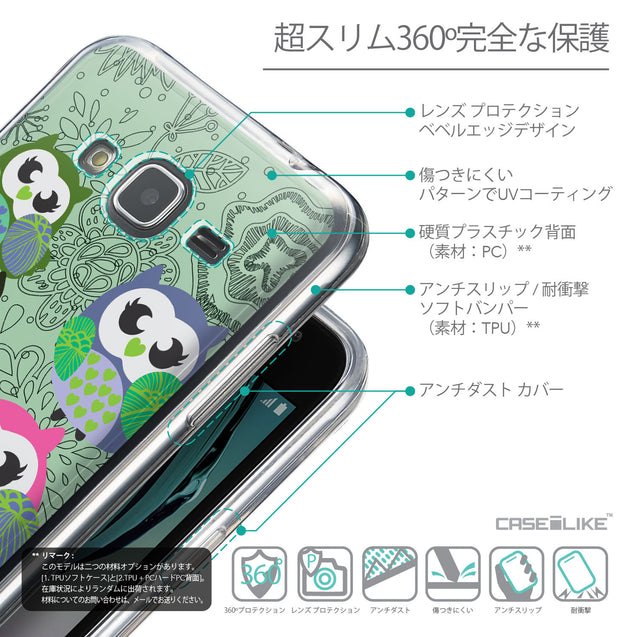 Details in Japanese - CASEiLIKE Samsung Galaxy J3 (2016) back cover Owl Graphic Design 3313
